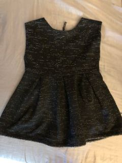 Beautiful black and silver shimmery dress. 18 months