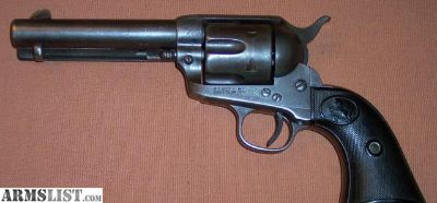 """For Sale: Colt 1st Generation SAA Single Action Army 4.75"""" 45 c. 1996 ANTIQUE"""
