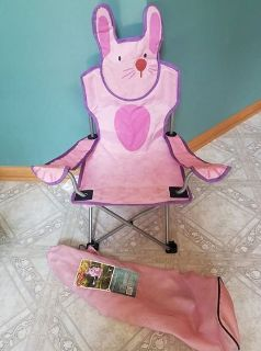 Toddler Bunny Camp Chair with Case