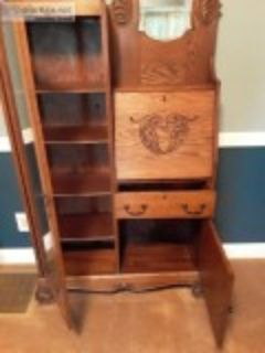 Antique Dining Room Hutch Secretary