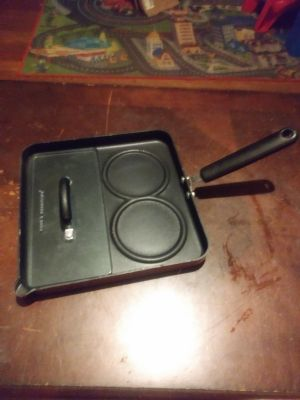 Pan with glass press
