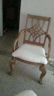Two identical chairs