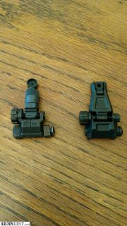 For Sale: Back up iron sights BUIS Front and Rear Flip up