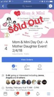 ticket to mom/daughter event
