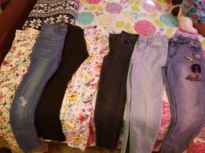 Girl denim jeans size. 10, 12 and 14. One pair new