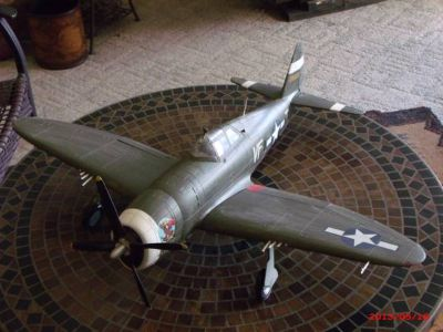 Huge Model of a Hellcat or P40 Flying Tiger