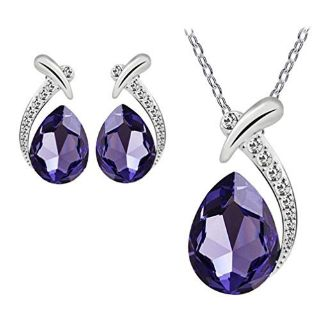 BEAUTIFUL Purple Pendant & Earring Set***BRAND NEW