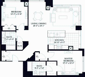 2 bedroom in Central