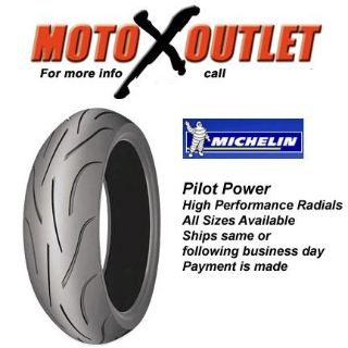Purchase Michelin Pilot Power Motorcycle Tire 180/55 17 Rear New motorcycle in Lehi, Utah, US, for US $119.99