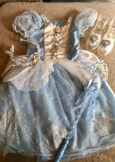 Fit for a PRINCESS! Cinderella Gown, Tiara, Wand & Glass Slippers