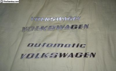 Volks Wagen Name Plates
