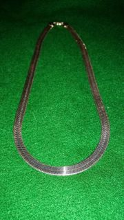 Gorgeous very expensive .925 sterling silver wide gauge necklace paid retail of $357. In EUC RARELY WORN