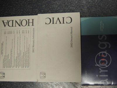 Find 2002 HONDA CIVIC OWNERS MANUALS motorcycle in Austin, Texas, US, for US $5.00