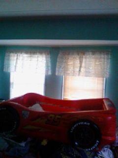 lightning mcqueen toddler bed frame
