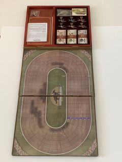 Old Century Wooden Box Stretch Run Board Game By Front Porch Classics