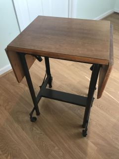 Vintage MCM Typing Table Side Table Convertible
