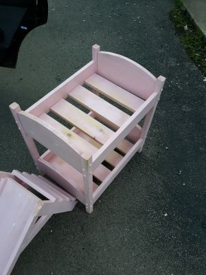 Doll bunk bed pink
