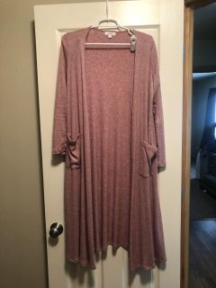 LulaRoe Sarah size small. Light pink ribbed! Super soft! $20 firm