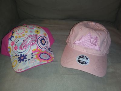 Rockies hat & eagles hat