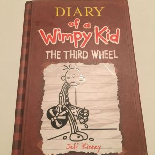 Diary of a Wimpy Kid The Third Wheel hardcover, retail price on book cover is $13.95 plus tax
