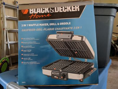 Grill-Waffle maker- griddle combo.