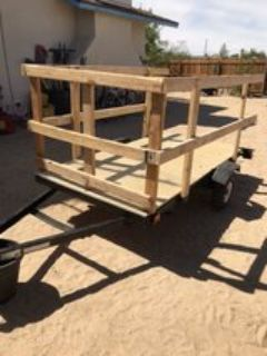 4x8 Two Wheel Trailer. Fully refurbished and ready to haul! Make an offer!