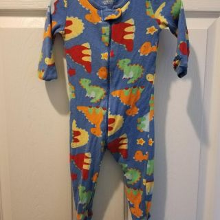 Boys Footed PJs - Size 18 months - dinos