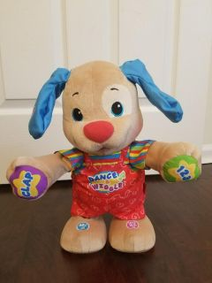 LIKE NEW Fisher-Price Laugh & Learn Dance & Wiggle Teaching Puppy/Dog Toy-(Numbers/Letters)