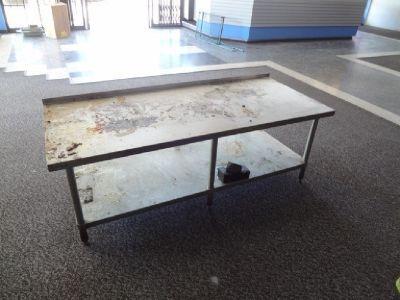 """GSW 30"""" x 72"""" S/S Work Table w/Backsplash RTR# 9031826-08"""