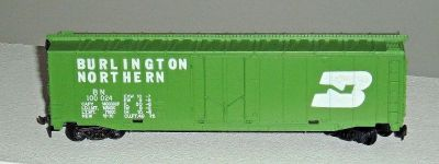 HO Scale 50' Plug Door Box Car Burlington Northern 100024 TYCO 339E