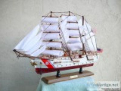 U.S.C.G. TALL SHIP BARQUE EAGLE CUTTER WOODEN MODEL rdquo