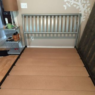 Queen Bed Frame-Chrome