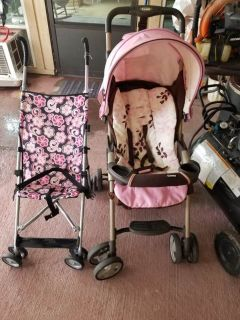 2 strollers
