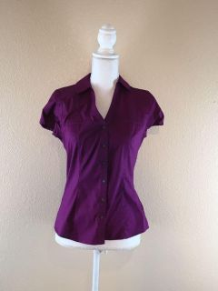 Express Essential Stretch Purple Blouse Small