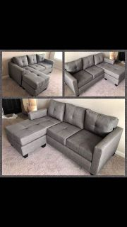 Gray Sectional Sofa! NEW IN BOX!