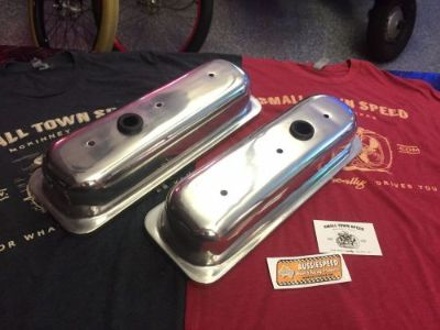 Find SALE 2nds #2 - POLISHED 4.3 V6 TALL CAST ALUMINUM VALVE COVERS hot rod motorcycle in McKinney, Texas, United States, for US $359.00