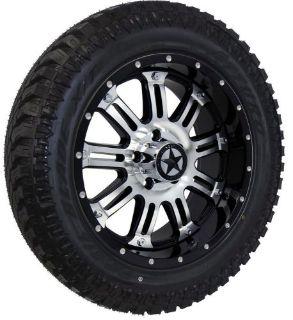 "Sell 20"" Black & Mirror Lonestar Ambush Wheels 33"" Tires 5 Lug Dodge Ram Trucks 20x9 motorcycle in Katy, Texas, United States"