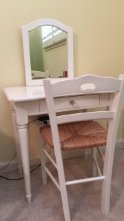 Girls white vanity with chair