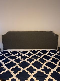 King size headboard and mattress/box spring