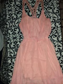 Charlotte Russe gold chain racetrack dress