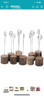 8 place card holders wedding rustic