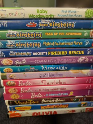 DVDs for kids, all for $10 or $1 each