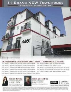 For Sale: 11 Brand New Townhomes in Studio City