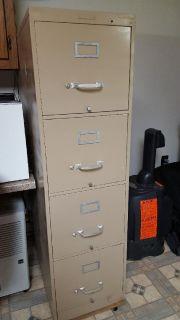 steel desk & 4-drawer file cabinet
