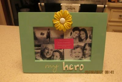 """""""My Hero"""" Picture Frame - New w/Tag"""