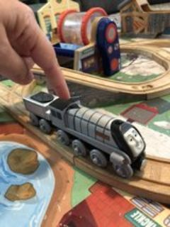 Talking Spencer Train car with coal car (from Thomas the Train set)