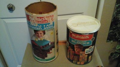 Vintage 1970's Playschool Lincoln Log Set