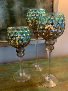 Kirklands Mercury Glass Candle Holders