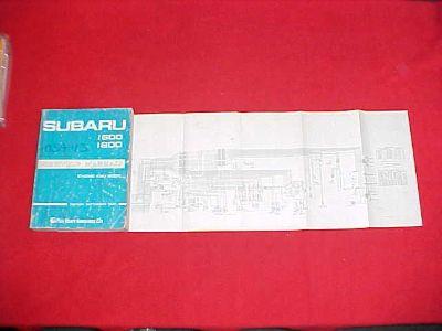 Buy 1981 SUBARU 1600 1800 ORIGINAL SHOP SERVICE REPAIR MANUAL W/ WIRING DIAGRAMS 81 motorcycle in Leo, Indiana, US, for US $49.99