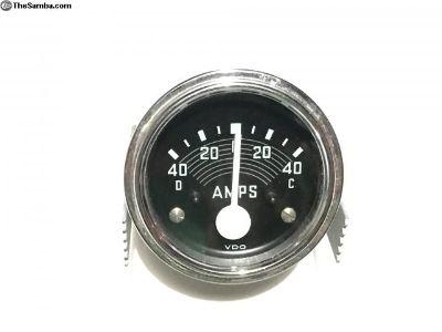 Vintage VDO Amp Meter Like New 40 Amp